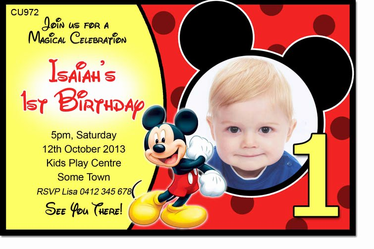 Mickey Mouse Birthday Invitation Template Luxury 40th Birthday Ideas Birthday Invitation Maker Mickey Mouse