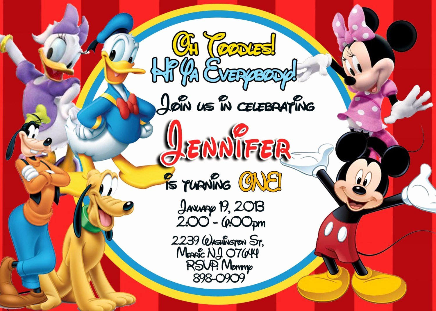 Mickey Mouse Birthday Invitation Template Unique Exclusive Mickey Mouse Clubhouse Birthday Invitations