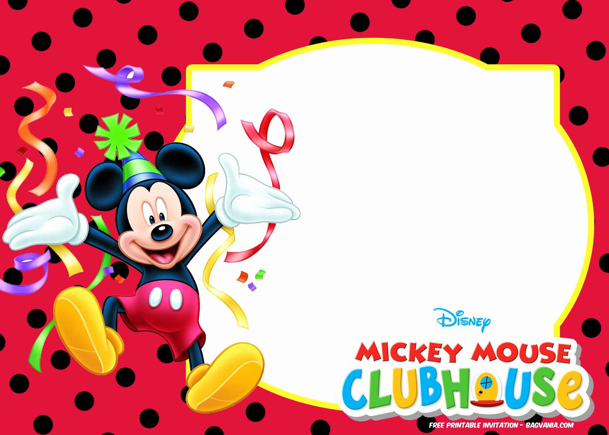 Mickey Mouse Birthday Invitation Template Unique Free Mickey Mouse Summer Birthday Invitations Free