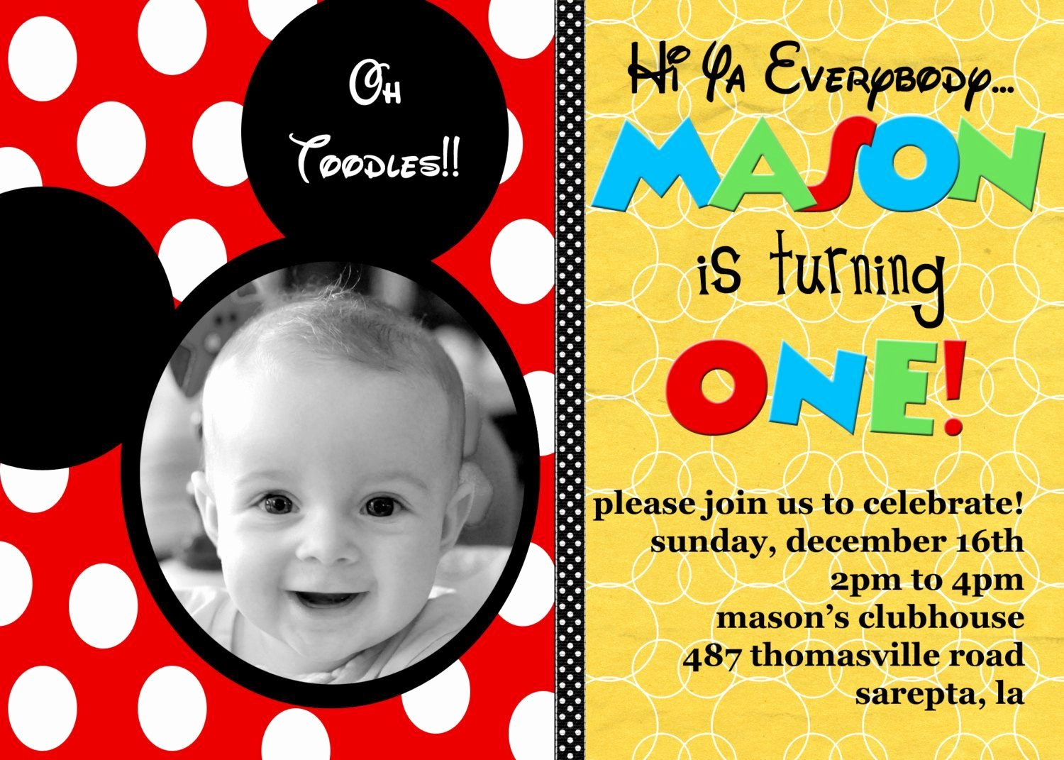 Mickey Mouse Birthday Invitation Template Unique Free Printable Mickey Mouse Birthday Invitation Cards