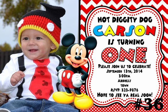 Mickey Mouse Invitations Templates Beautiful 31 Mickey Mouse Invitation Templates Free Sample