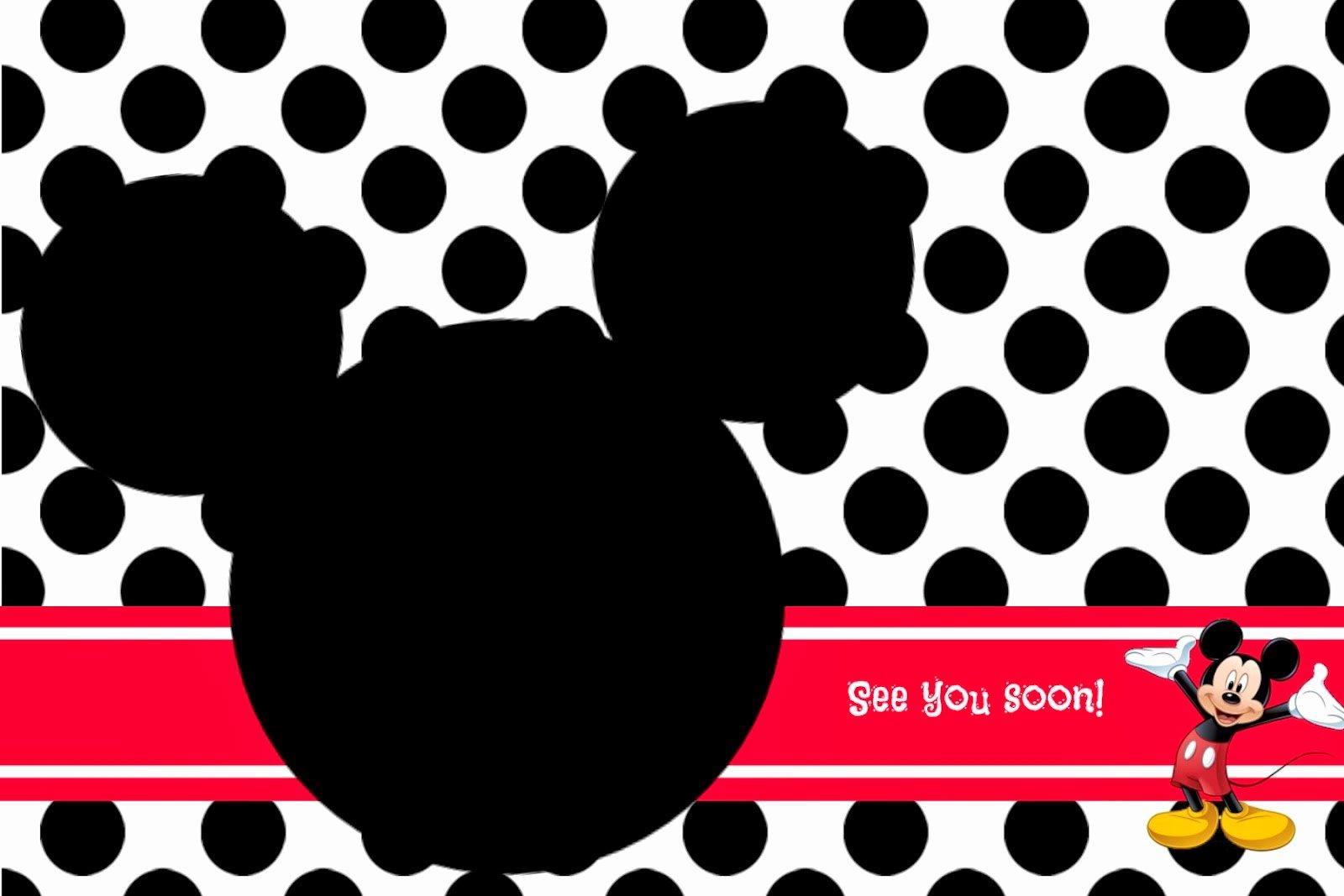 Mickey Mouse Invitations Templates Beautiful Random Ramblings