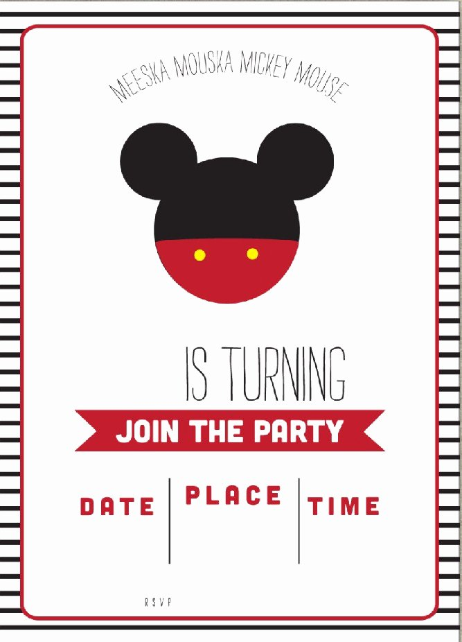 Mickey Mouse Invitations Templates Elegant Free Mickey Mouse Clubhouse Birthday Invitations – Free