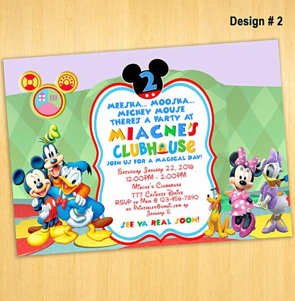 Mickey Mouse Invitations Templates Fresh 30 Mickey Mouse Invitation Template