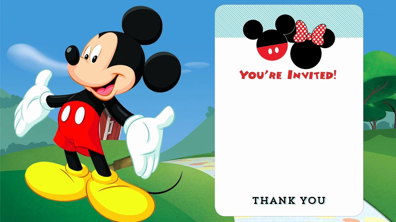 Mickey Mouse Invitations Templates Luxury Cool Free Printable Mickey Mouse Invitations Exclusive