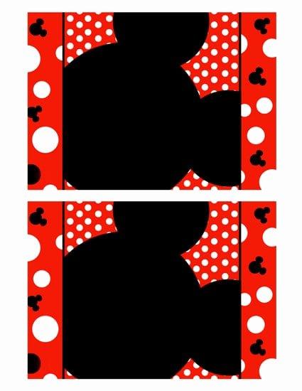Mickey Mouse Invitations Templates Unique Mickey Mouse Invitation Blank Template