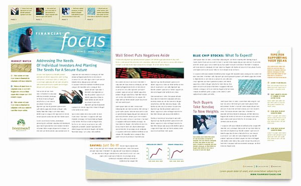 Microsoft Publisher Newspaper Templates Awesome Free Indesign Template Of the Month Newsletter Layout