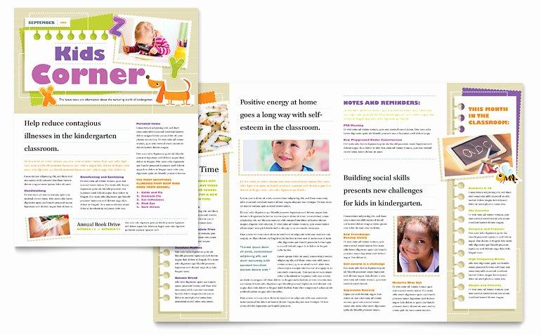 Microsoft Publisher Newspaper Templates Fresh Kindergarten Newsletter Template Word & Publisher