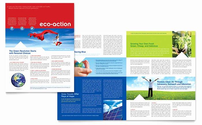 Microsoft Publisher Newspaper Templates Inspirational Green Living & Recycling Newsletter Template Design
