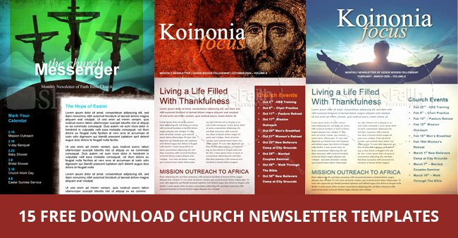 Microsoft Publisher Newspaper Templates Luxury 15 Free Church Newsletter Templates Ms Word Publisher