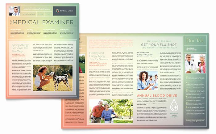 Microsoft Publisher Newspaper Templates Luxury Medical Clinic Newsletter Template Word & Publisher