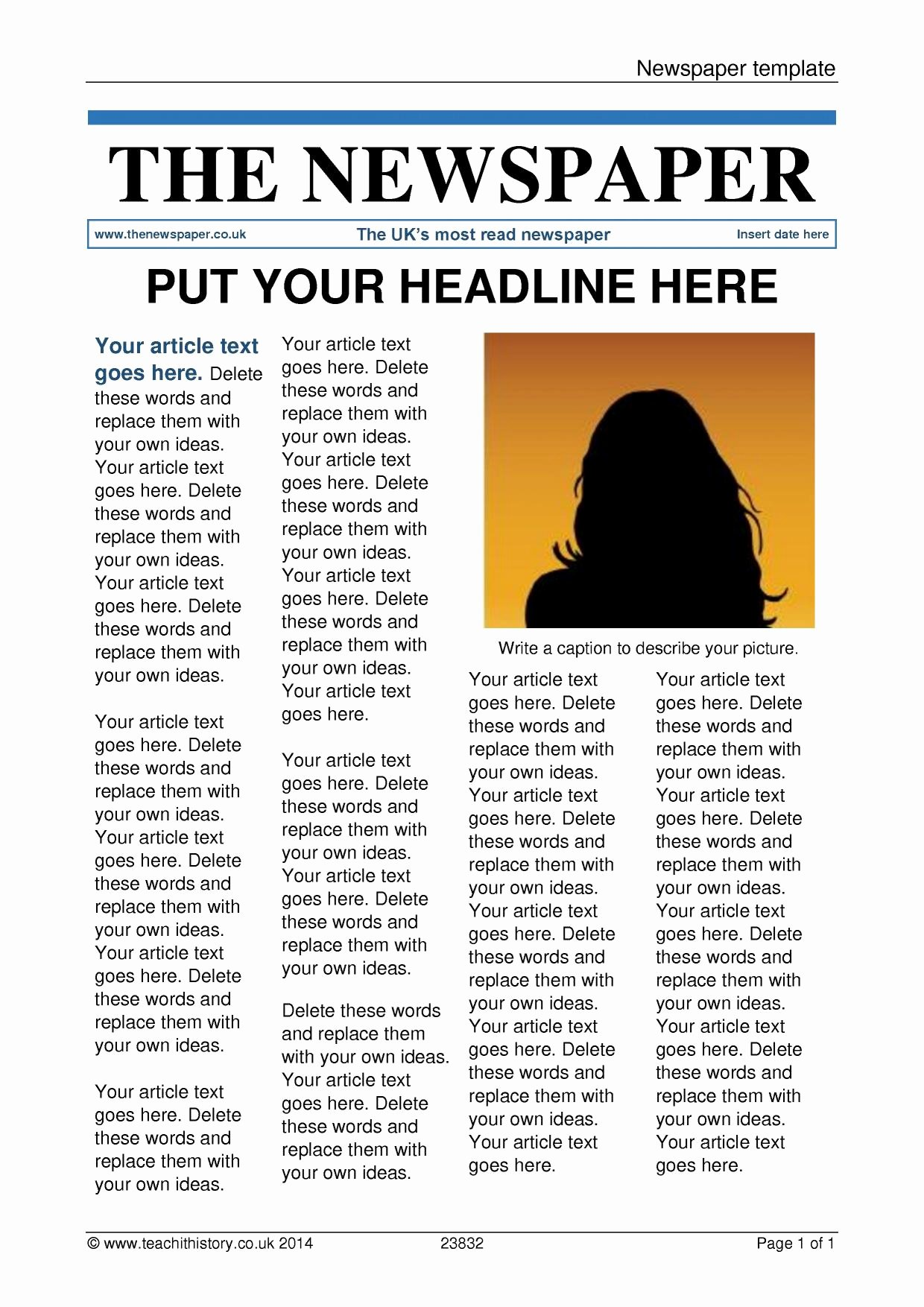 Microsoft Publisher Newspaper Templates Luxury Newspaper Article Template for Microsoft Publisher Ideas