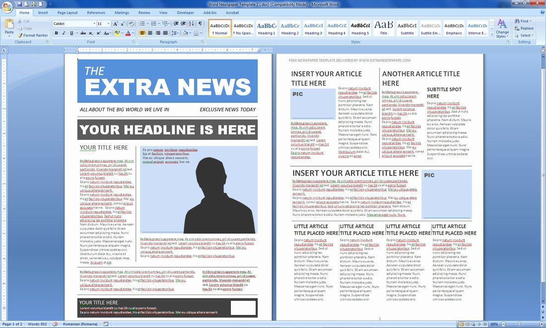 Microsoft Publisher Newspaper Templates New Newspaper Template Publisher