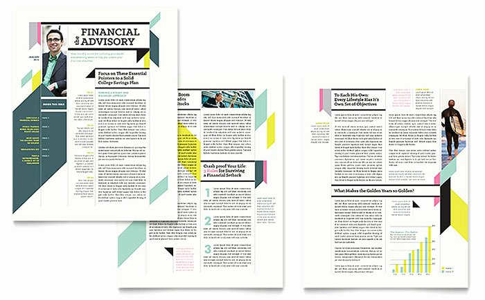 Microsoft Publisher Newspaper Templates Unique Personal Finance Newsletter Template Word & Publisher