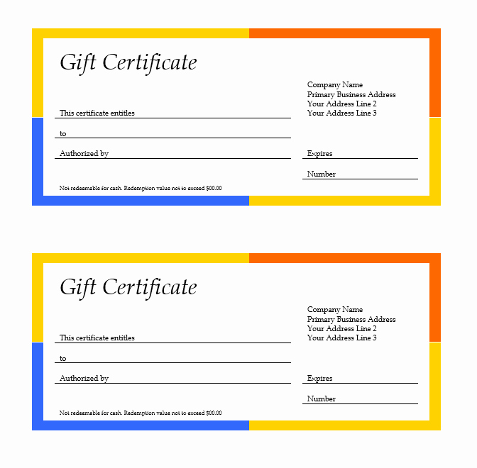 Microsoft Word Certificate Template Awesome 11 Free Gift Certificate Templates – Microsoft Word Templates