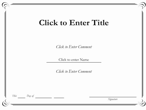 Microsoft Word Certificate Template Awesome Certificate Template Word