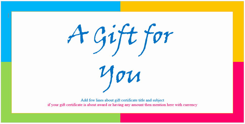 Microsoft Word Certificate Template Beautiful Custom Gift Certificate Templates for Microsoft Word