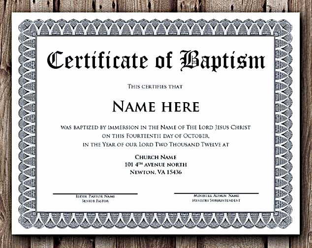 Microsoft Word Certificate Template Inspirational Baptism Certificate Word Editable Template Selecting