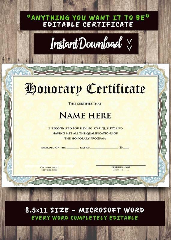 Microsoft Word Certificate Template Inspirational Printable Certificate Template Microsoft Word Editable