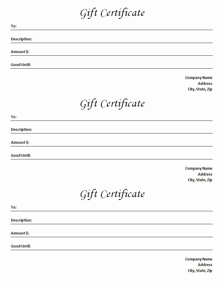 Microsoft Word Certificate Template Lovely Gift Certificate Template Blank Microsoft Word Document