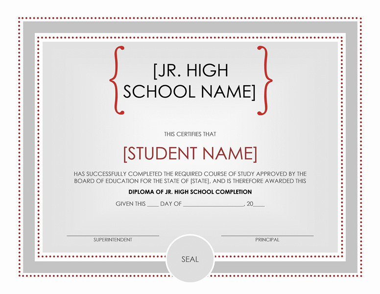 Microsoft Word Certificate Template Unique High School Certificate Template Word Templates