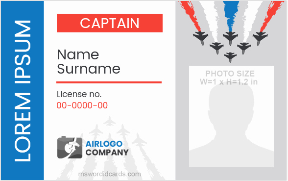 pilot id card templates