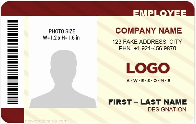 Microsoft Word Id Card Template Best Of 5 Best Fice Id Card Templates Ms Word