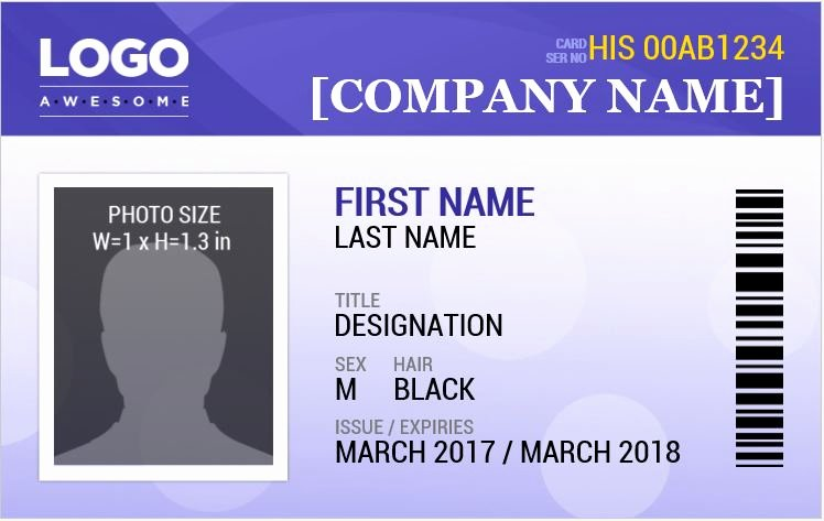 Microsoft Word Id Card Template Best Of Ms Word Id Badge Templates for All Professionals