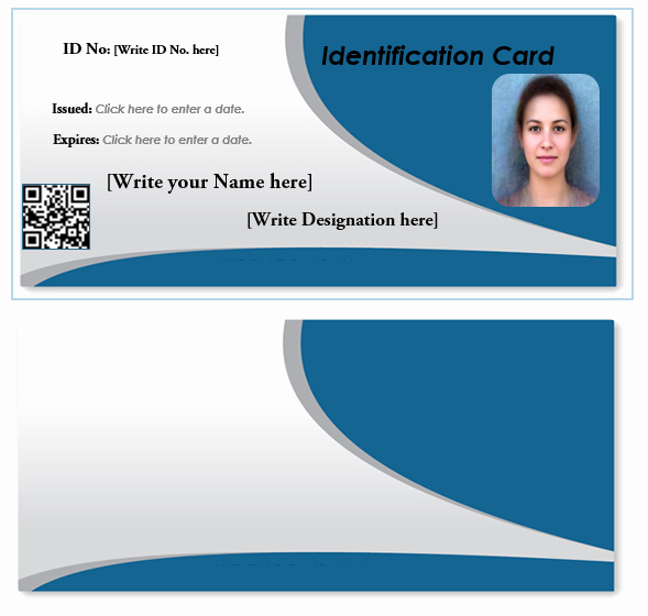 Microsoft Word Id Card Template Elegant Id Card Template