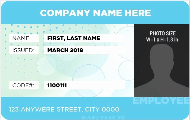 Microsoft Word Id Card Template Fresh 10 Best Staff Id Card Templates Ms Word