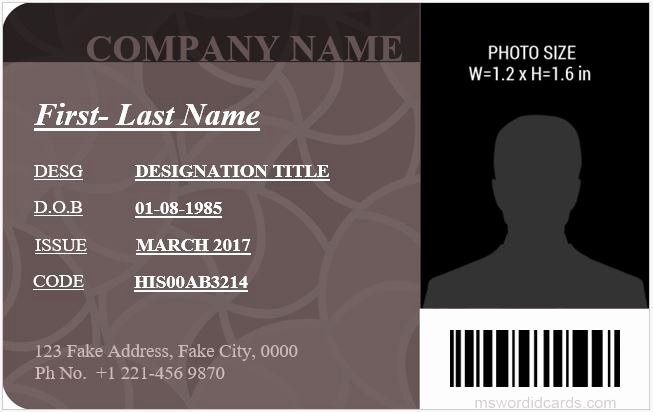 Microsoft Word Id Card Template Lovely 5 Best Fice Id Card Templates Ms Word