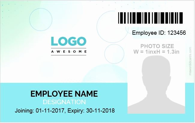 Microsoft Word Id Card Template Lovely Id Card Template Word 5 Professional Designs