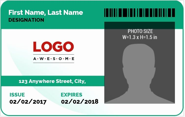 Microsoft Word Id Card Template New Ms Word Id Badge Sample Template