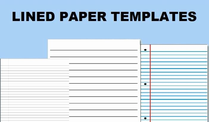 Microsoft Word Lined Paper Template Beautiful Lined Paper Printable