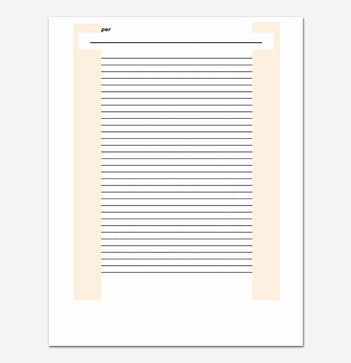 Microsoft Word Lined Paper Template Inspirational Lined Paper Template