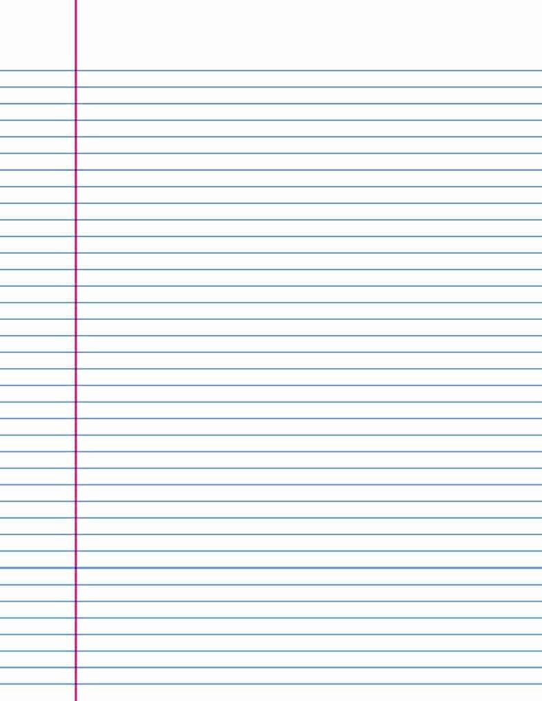 Microsoft Word Lined Paper Template Unique 14 Lined Paper Templates Excel Pdf formats