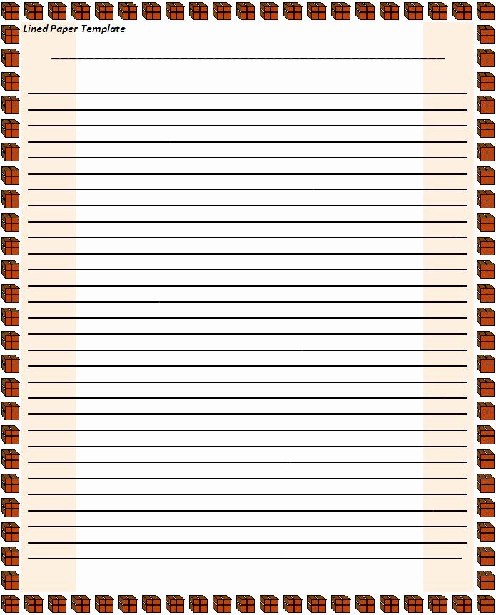 Microsoft Word Lined Paper Template Unique Lined Paper Template