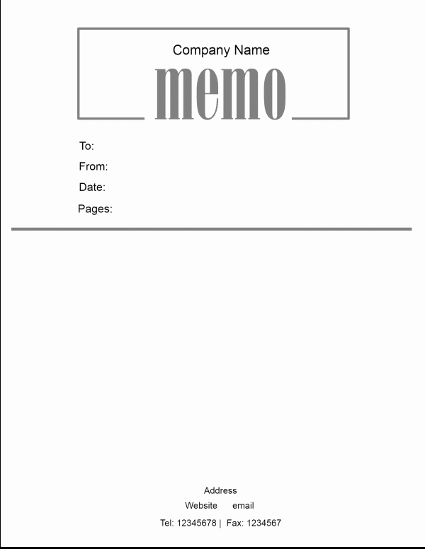 Microsoft Word Memo Template Awesome Free Microsoft Word Memo Template
