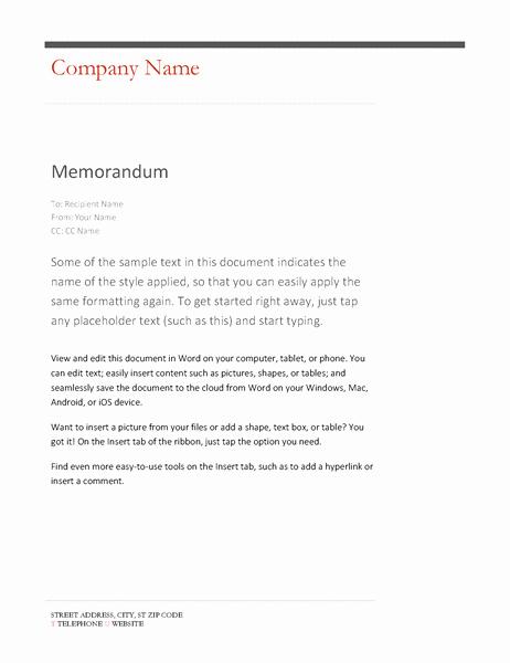 Microsoft Word Memo Template Beautiful Memos Fice