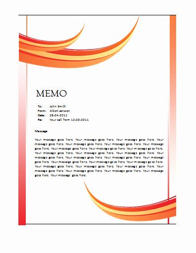 Microsoft Word Memo Template Fresh Memo Template – Microsoft Word Templates