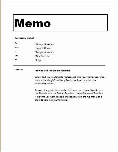 Microsoft Word Memo Template New 24 Free Editable Memo Templates for Ms Word