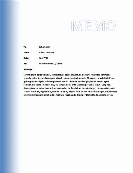 Microsoft Word Memo Template New Memo Template Category Page 1 Efoza