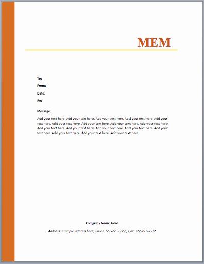 Microsoft Word Memo Template New Mou Memo Template – Microsoft Word Templates