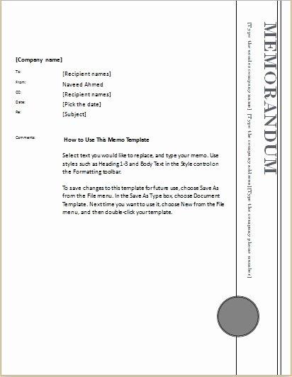 Microsoft Word Memo Template Unique 24 Free Editable Memo Templates for Ms Word