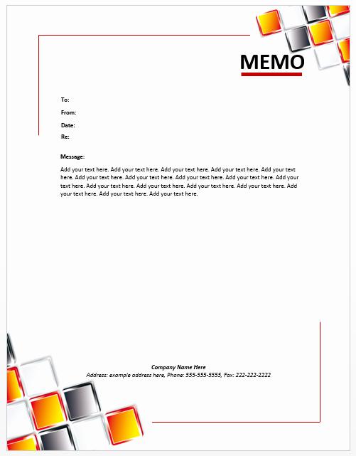 Microsoft Word Memo Template Unique Staff Memo Template – Microsoft Word Templates