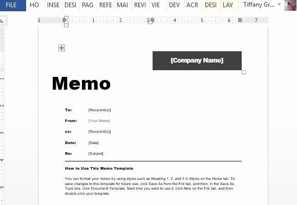 Microsoft Word Memo Templates Awesome Interoffice Memo Template for Word
