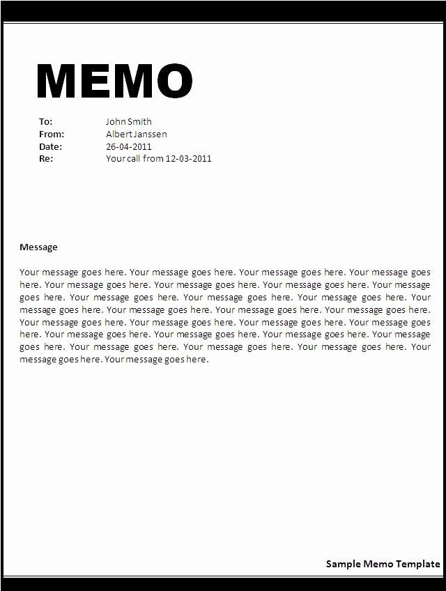 Microsoft Word Memo Templates Best Of Business Memo format Microsoft Word