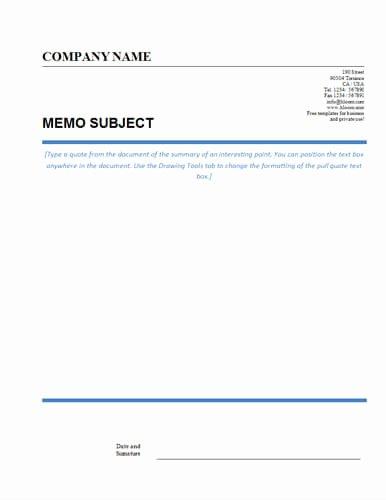 Microsoft Word Memo Templates Fresh Memo format [bonus 48 Memo Templates]