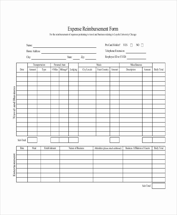 Mileage Reimbursement form Template Awesome Sample Mileage Reimbursement form 11 Examples In Word