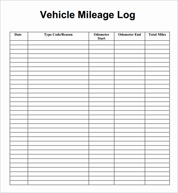 Mileage Reimbursement form Template Best Of Mileage Log Template 14 Download Free Documents In Pdf Doc